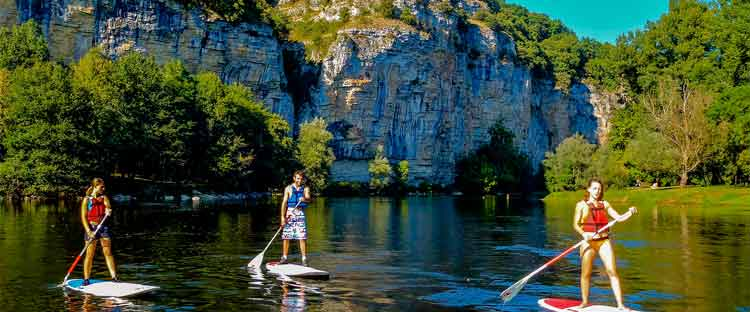 Stand up paddle vallée de la Dordogne