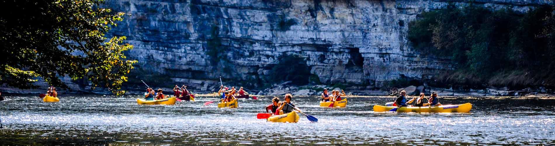 Vallée de la dordogne canoë